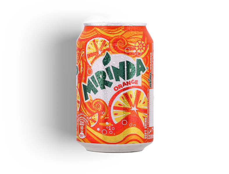Limonāde mirinda apelsīnu dzēriens